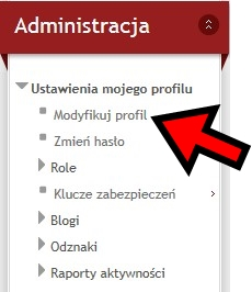Modyfikuj profil
